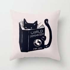 World Domination For Cats by Tobe Fonseca as a high quality Throw Pillow. Free Worldwide Shipping available at Society6.com from 11/26/14 thru 12/14/14. Just one of millions of products available.