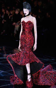 alexander mcqueen red dress