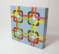 Modern Squares Art Blocks  Midcentury Modern by 1scrappinmom