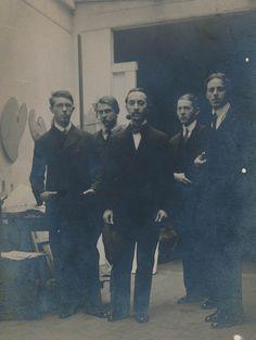 Académie de La Palette, cca 1912: Csáky, Galimberti (?), Szobotka, Farkas, Miklós