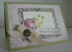 Birthday card - stampin with beemybear
