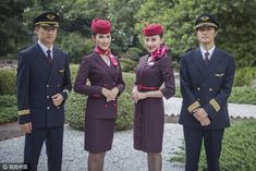 【China】 Shanghai Airlines / 上海航空 【中国】 Double Breasted Suit, Suit Jacket, Cabin, Suits, Jackets, Fashion, Down Jackets, Moda, Fashion Styles