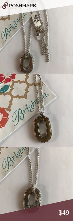 "Brighton Desert Dusk Long Reversible Necklace Authentic NWT Brighton Desert Dusk Silver/Gold Long Reversible Necklace, Lobster Claw Closure, 32"" - 34"", BRAND NEW WITH TAGS Brighton Jewelry Necklaces"