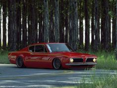 Slammed 1967 Barracuda Fastback - http://www.modifiedcars.com/551431