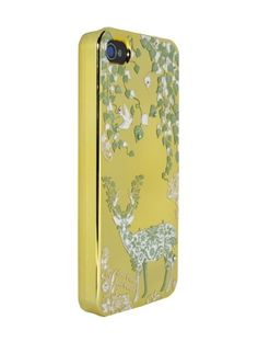 Gold Little Bird,Ivy and Stag Relief for iPhone4/4S