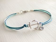 Sailor Anchor Jewelry Bracelet Silver Anchor by LycheeKiss on Etsy, $23.00