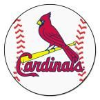 MLB St. Louis Cardinals White 2 ft. 3 in. x 2 ft. 3 in. Round Accent Rug