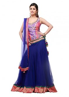 Royal blue lehenga with embroidery by Exclusive Indian Dresses, Indian Outfits, Royal Blue Lehenga, We Wear, How To Wear, Lehenga Collection, Indian Couture, Party Wear Dresses, Asian Fashion