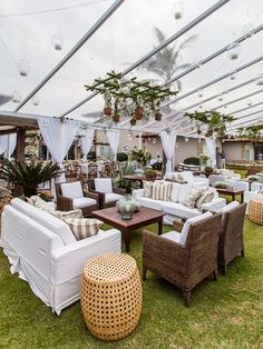 Event lounge areas are a gorgeous trend that is here to stay! The 360 at Skyline loves lounge areas! Wedding Lounge, Outdoor Wedding Reception, Outdoor Wedding Decorations, Reception Decorations, Event Decor, Outdoor Decor, Marquee Wedding, Event Ideas, Wedding Furniture