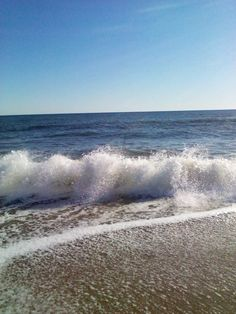 A windy Day by the Ocean OBX Nags head North Carolina