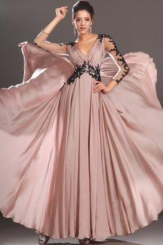 E176 Long Sleeve Prom Dress,Evening Dress,Mother of Bride