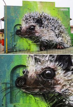 Artist Turns Trash Into Animals To Remind Us About Pollution - To spread his message about endless waste production, Portuguese street artist Bordalo II (Artur Bo - Art Sculpture, Animal Sculptures, Urbane Kunst, Trash Art, Street Mural, Best Street Art, Outdoor Art, Land Art, Art Design