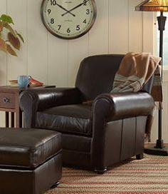 #LLBean: Bean's Leather Lodge Chair