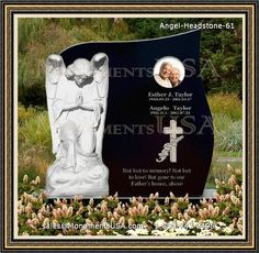 Custom Fishing Amp Hunting Laser Etched Headstone On India