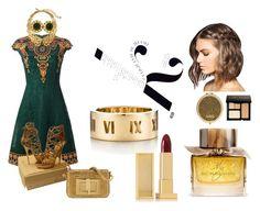 """eastern gold"" by themostfashion on Polyvore featuring moda, Valentino, Jimmy Choo, Tiffany & Co., Chanel, Oscar de la Renta, Lipstick Queen, Bobbi Brown Cosmetics, Burberry i Henri Bendel"
