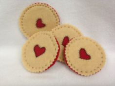 Jammie biscuits by HeartFeltCraft1 on Etsy, £2.00