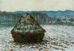 Grainstack 2, 1891 by Claude Monet. Impressionism. landscape
