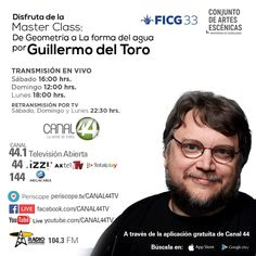 Guillermo Del Toro to give 3 free public Master Classes in his hometown Guadalajara Mexico this weekend. Live streaming will be available.