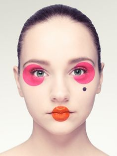 "For ""Dot, the Living Doll"": I'd drop the pink circles to her cheeks, put the 'beauty mark' right above her lip and paint black 'Manga' eyelashes all around her eyes."