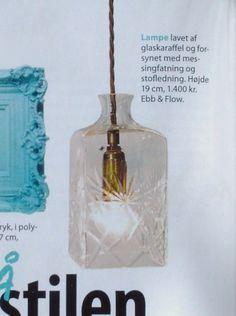 Femina, nr 23/juni 2013     Harry carafe, square lampshade, cut pattern fra Ebb & Flow finder du her:http://www.houseofbk.com/Shop/Product/?shopid=827=156664