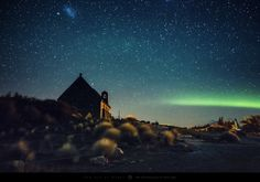 Church and the Aurora by Mark Gee on 500px