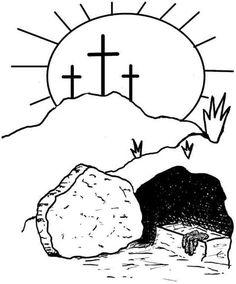 open tomb clip art jesus is risen empty tomb coloring page art