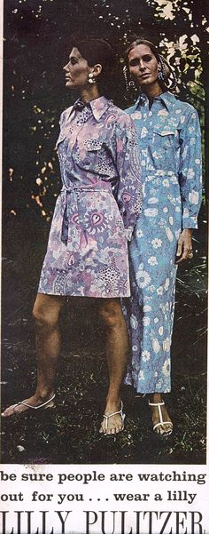 A Lilly Pulitzer ad from 1970