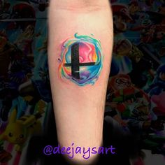 [New] The 10 Best Tattoo Ideas Today (with Pictures) - Smashball! Nintendo Tattoo, Gaming Tattoo, Video Game Tattoos, Tattoo Videos, Tattoos For Women, Tattoos For Guys, Comic Book Tattoo, Jesus Tattoo, Batman Tattoo