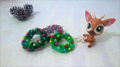 ⛄ DIY MINIATURE  Pipe Cleaner Christmas Wreath / Easy / Miniatura Grinalda Natal Imagem de miniatura ⛄