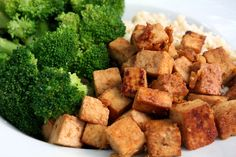 """Ginger-Lime Tofu Cubes from """"My Beef With Meat"""" recipe is in the book!"""