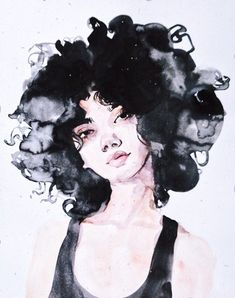 Ink and watercolor woman portrait illustration. Young and pretty. - Ink and watercolor woman portrait illustration. Young and pretty lady, portrait pai - Art And Illustration, Fashion Illustration Face, Portrait Illustration, Watercolor Illustration, Fashion Illustrations, Fashion Sketches, Dress Sketches, Fashion Sketchbook, Watercolor Art Face