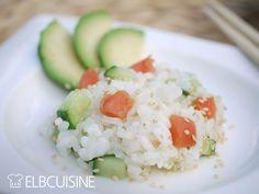 Sushi-Salat mit Wasabi-Dressing