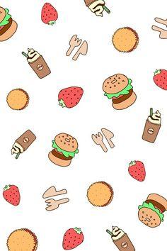 Food wallpaper Ilustrasi lucu Ilustrasi Lucu