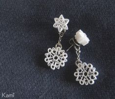 paper quilled earrings on minne(ミンネ)|  雪のピアス
