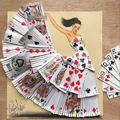 It's just a dance of cards. Created by @edgar_artis #designspiration #art #artsy - View this on https://www.instagram.com/Designspiration/