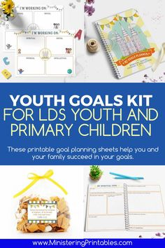 Setting and accomplishing worthwhile goals is a learned skill. This youth goals kit makes it easy! These printable goal planning sheets help you and your family succeed in your goals. Buy now. #LDSprimary #ministering #ldsministering #lds2021 #primary2021 #youthgoal #comefollowme #ministeringprintables #ldsprintables Primary Activities, Activities For Kids, Lds Seminary, Relief Society Lessons, Lds Blogs, Lds Youth, Service Ideas, Youth Programs, Family Home Evening