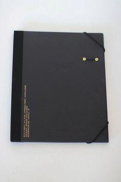"Portfolio Cover - 9.5 x 12"" expandable pocket elastic closure pen holder important dates calendar"