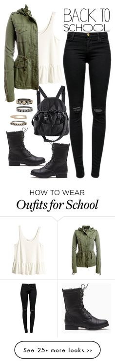 """905."" by adc421 on Polyvore featuring H&M, J Brand, Aéropostale, Iosselliani, BackToSchool and falljackets"