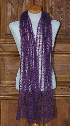 Zarter Lace Schal aus Mohair/Seide - ein Designerstück von HansensGasse bei DaWanda