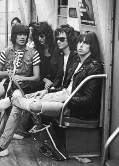 The Ramones in New York City photographed by Bob Gruen, 1975