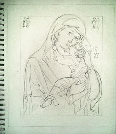 Umilenie, Mother of god of Tenderness Model Russian 1600.