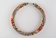 Этнический жгут-колье | biser.info - всё о бисере и бисерном творчестве