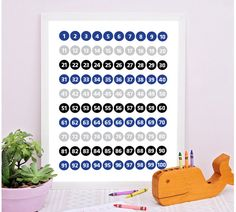 Numbers Printable, Numbers 1to100, Counting, Playroom Decor, Education Wall Art, Number Chart Printable, Numbers Poster, Education Printable   #EducationWallArt #print #NurseryWallArt #digital #NumbersChart #EducationPrintable #PlayroomDecor #art #Numbers1To100 #NumbersPoster