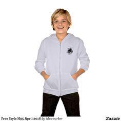 Free Style H95 Kids' American Apparel California Fleece Zip Hoodie   #design #fashion #freestyle #kid #hoodiejacket