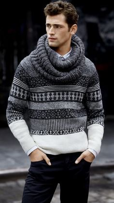 Men should never be afraid of a scarf