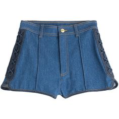High-waisted shorts with Lip Patches Cute and fun high waisted ...