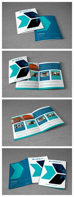 Desenvolvimento de Apresentação Comercial Impressa para a Hydroblast - Hidrojateamento e Pintura Industrial.