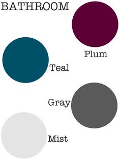 OR Master Bath - use a dark tone of the bedroom's accent color for the walls and all gray towels/mats (a flip-flop)
