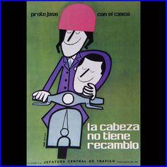 road safety poster by José María Cruz Novillo (1962)