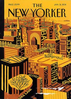 New Yorker cover having fun with fonts